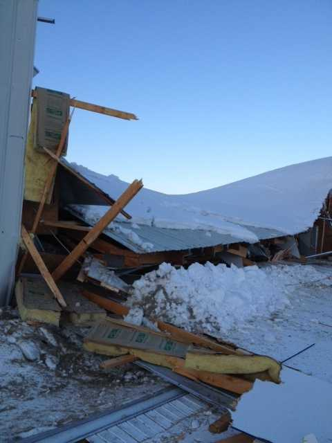 A roof collapsed this morning in Lebanon County.