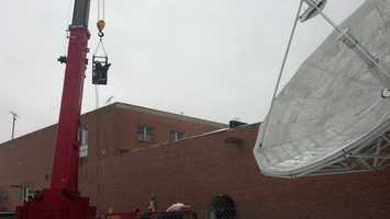 WGAL is back on the air after a roof collapse forced the evacuation of the station's Lancaster studio on Friday.