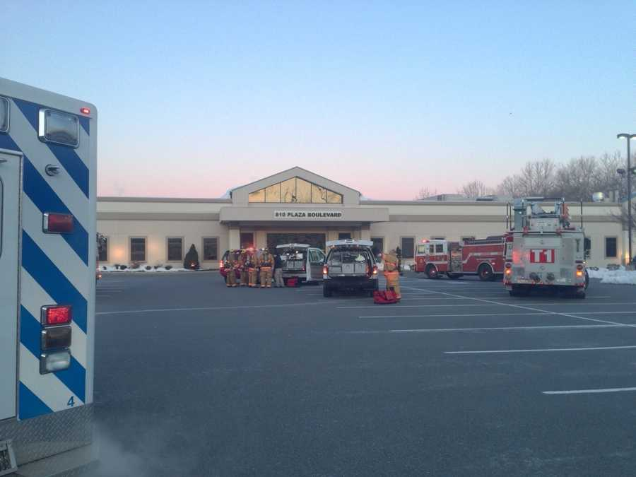 Hazmat crews checked a strange smell reported at a Lancaster County surgery center on Monday morning.