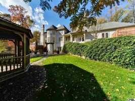 The home is situated on 11 acres of land.