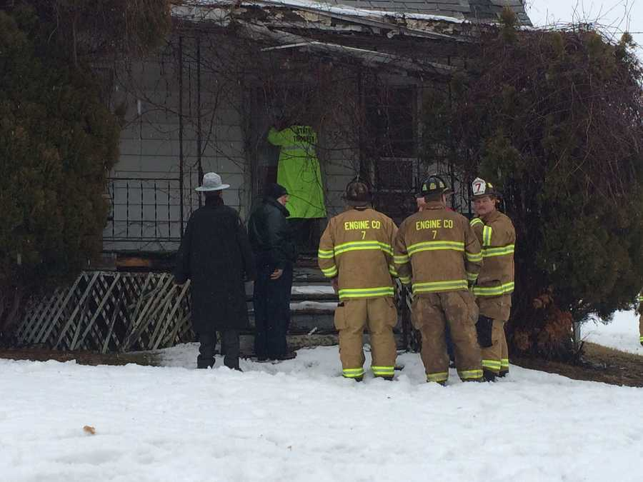 "Officials say the wood-framed home was old and ""in poor shape to begin with."""