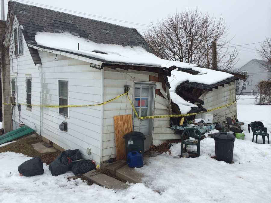 Officials say the collapse is the result of heavy snow and rain.