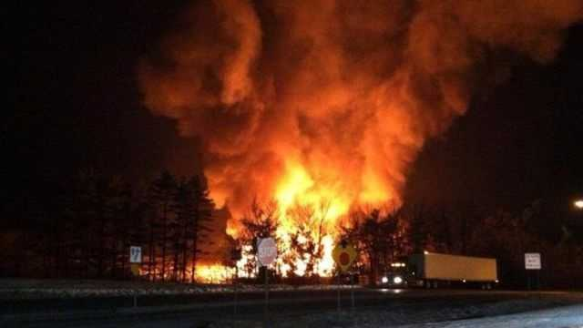 55-unit apartment building that was under construction burned to the ground Tuesday morning in Berks County.