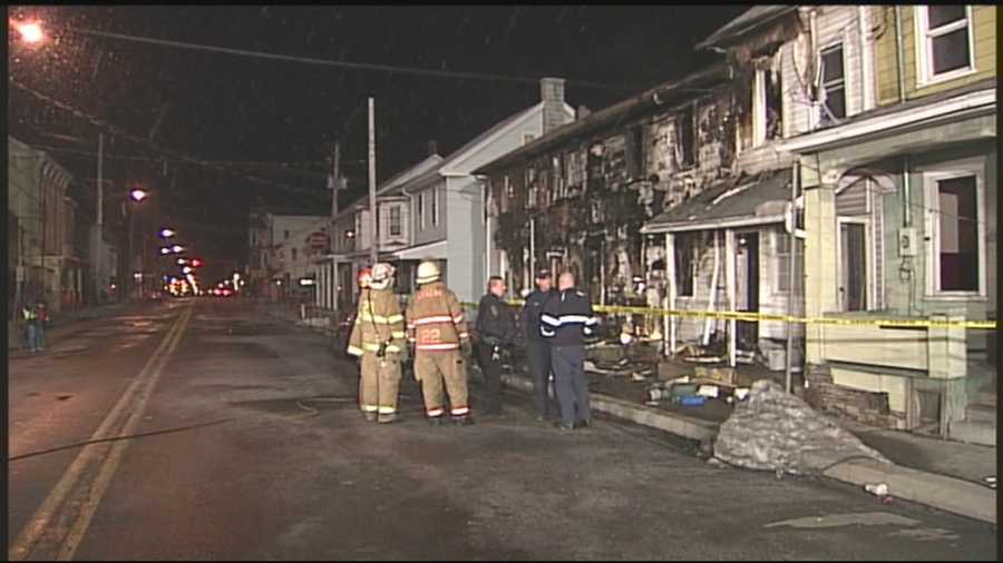 Officials say the fire started in the first floor of a home on the 600 block of Main Street in Lykens shortly before 11 p.m. Sunday.