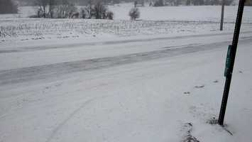 Monday, 7:30 a.m., snow-covered Route 472 in Colerain Township, just south of Quarryville.