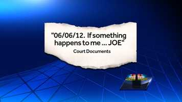 """Police say Annemarie discovered her husband, Joseph Fitzpatrick III, 44, of Felton, was having an affair and feared for her life. A co-worker found a handwritten note on her daily planner that read """"06/06/12. If something happens to me … JOE."""""""
