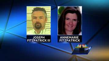 Investigators also said Joseph Fitzpatrick's story about the ATV crash didn't check out because his wife had numerous injuries and he had none. Joseph Fitzpatrick also had taken out nearly $1.7 million in life insurance on his wife, according to officials.