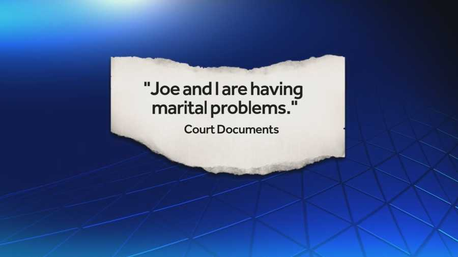 "Court documents show that Annemarie had also sent an e-mail to her own account with the subject line: If something happens to me. In it, she wrote, ""Joe and I are having marital problems..."