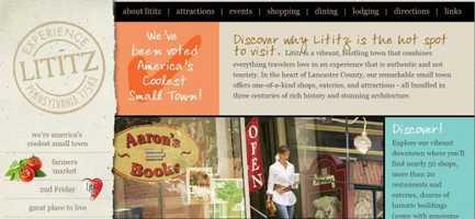 Visit America's coolest small town – Lititz, PA. Visit www.lititzpa.com for more information.