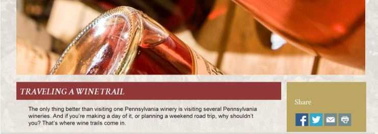 Say cheers and enjoy wine with the Mason-Dixon Wine Trail, made up of more than 20 wineries in the Susquehanna Valley area. Go to www.pennsylvaniawine.com to plan a trip.
