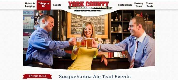 Enjoy the Susquehanna Ale Trail! Breweries like Troegs, Lancaster, Rumspringa, Swashbuckler and Stoudts are all in the region. See www.roadtripsforbeer.com.