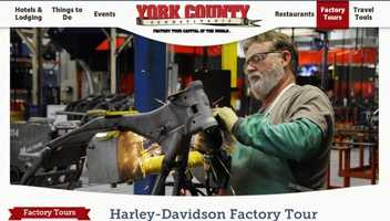 """Go on a factory tour in York, PA - the """"Factory Capital of the World."""" Tours include Harley-Davidson and Utz Quality Food. See www.yorkpa.org."""