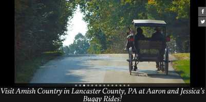Take a buggy ride! Aaron and Jessica's Buggy Rides, located in Bird-in-Hand, PA offers rides in original and antique carriages. Go to www. amishbuggyrides.com to learn more.
