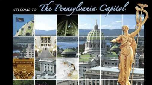 "See the state capital: Pennsylvania's Harrisburg Capitol building was designed by Philadelphia architect Joseph Huston who envisioned it as a ""Palace of Art."" Go to www.pacapitol.com to learn more."