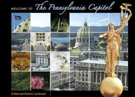 """See the state capital: Pennsylvania's Harrisburg Capitol building was designed by Philadelphia architect Joseph Huston who envisioned it as a """"Palace of Art."""" Go to www.pacapitol.com to learn more."""