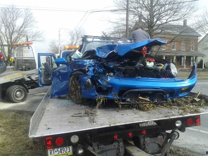 A car and SUV collided Wednesday morning in Lancaster County.
