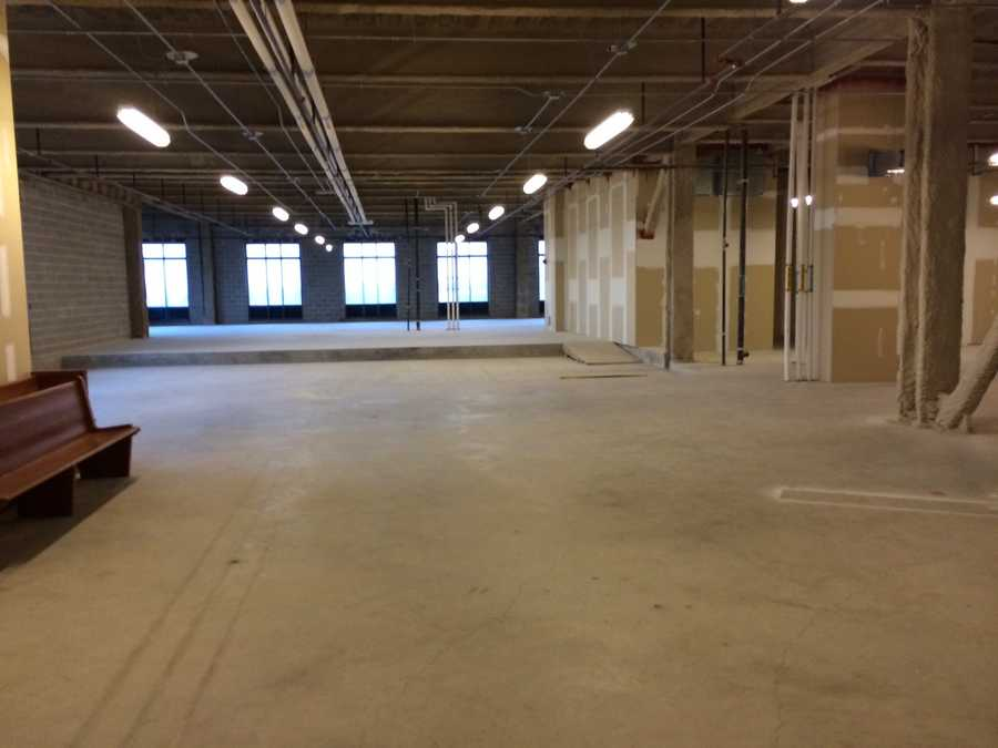 The courthouse plans to build four courtrooms on the fifth floor.