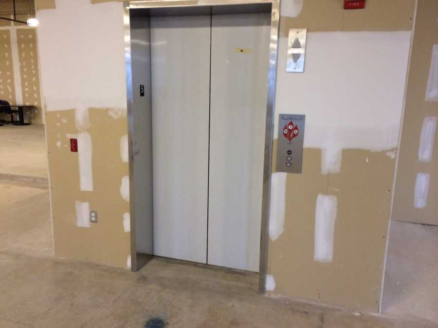 The courthouse elevator does not take employees and visitors to the fifth floor. They won't have access until the renovation is complete.