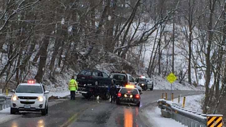 Single-vehicle crash on Springwood Road at Oakwood in York County, 10 a.m. Monday. The driver had to be extricated and was taken to the hospital.
