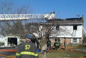 Fire crews responded to a house fire Friday morning in southern Lancaster County.