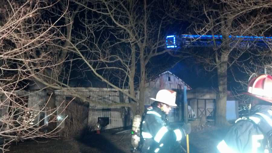 The fire started about 4 a.m. at the garage along the 2300 block of Meadow View Road.