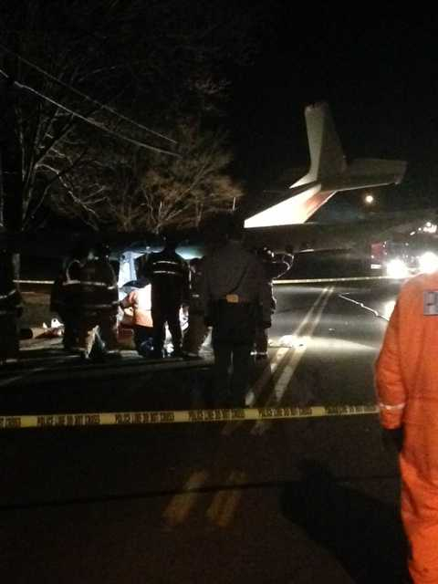 The plane crashed in a residential area near the intersection of West Hunter Road and East Forge Road in South Middleton Township just after 11 p.m. Monday.