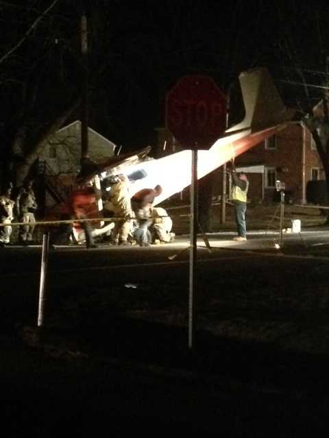 The plane didn't hit anything, and no one on the ground was hurt.