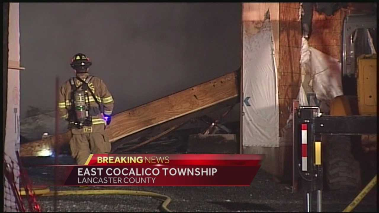 Today 4.3.14 fire scene lancaster county