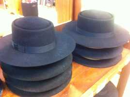 All types of Amish hats are sold locally.