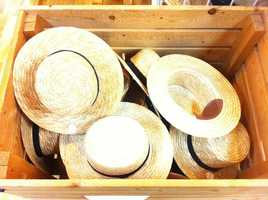 Amish straw hats can be found at gift shops like Dutch Haven on Lincoln Highway.