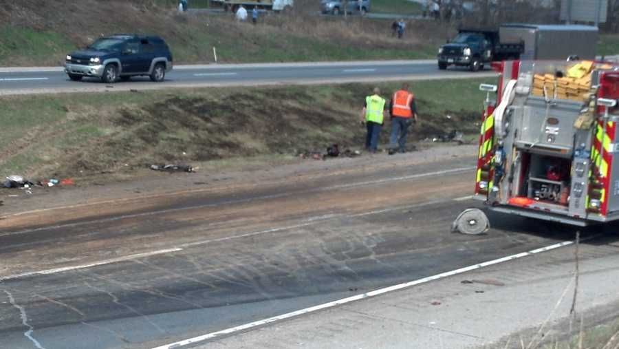 The passenger in the first tractor trailer has been reported as injured.