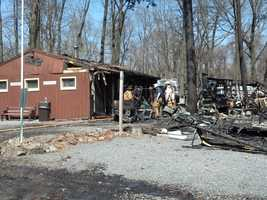The campground is located along the line of Lebanon and Berks counties.