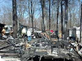 A portion of the campground area was destroyed.