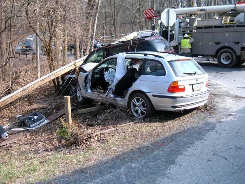 Two people were hurt Thursday afternoon after a crash in Cornwall, Lebanon County.