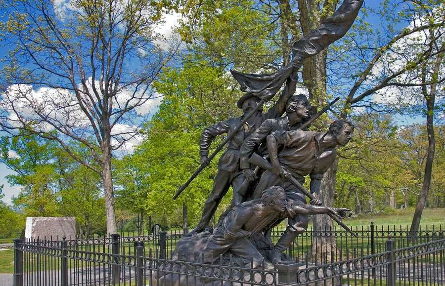 13:Gutzon Borglum, a renowned American sculptor most famous for designing Mount Rushmore, built the North Carolina Monument at Gettysburg. It was dedicated at the site in 1929. Image:https://creativecommons.org/licenses/by-nd/2.0/