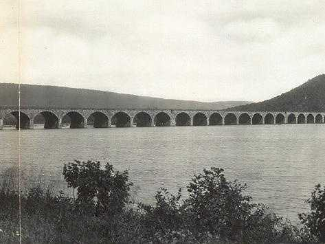 25: The Rockville Bridge in Harrisburg is the longest stone masonry arch bridge in the world. It was constructed by the Pennsylvania Railroad between 1900 and 1902.