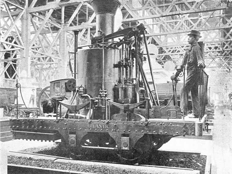 24:The York locomotive (similar to the one shown above) was constructed in 1831 by Phineas Davis. It was the forerunner for one of the earliest lines of successful American-made locomotives.