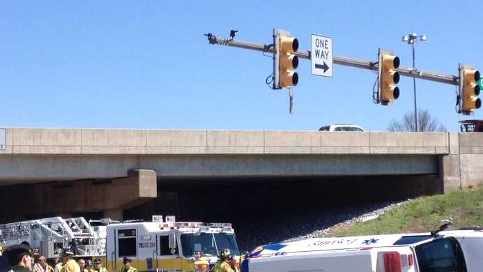 A crash on Lititz Pike left an ambulance overturned on Wednesday morning.