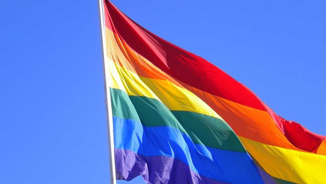A rainbow flag that represents gay pride. (Photo via Flickr: http://bit.ly/1fmaQWv License: http://bit.ly/RaejCi)