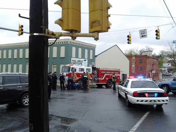The crash happened around 12:30 p.m. at the intersection of Seymour Street and South Prince Street.