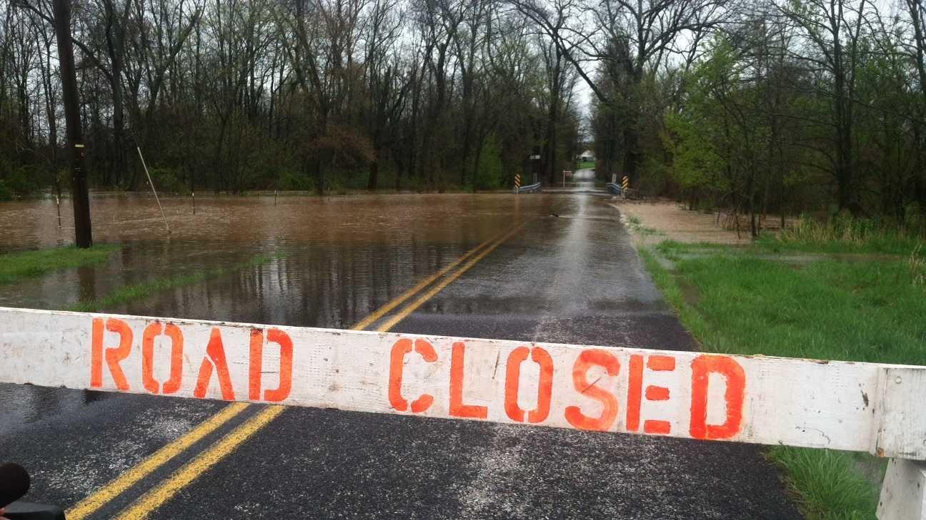 Alloway Creek floods Updike Road near Littlestown, Adams County, Wednesday afternoon.