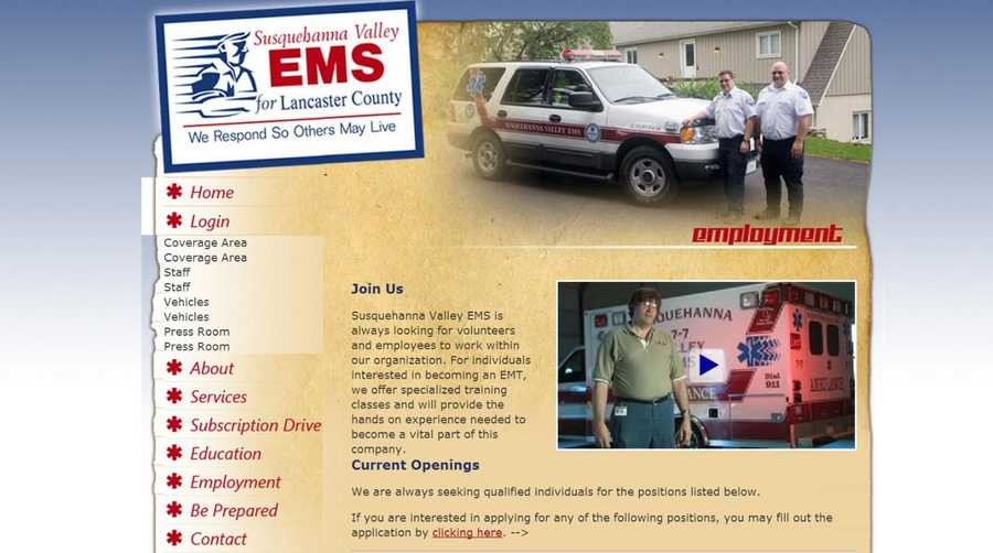 Susquehanna Valley EMS is always looking for volunteers to help. Go to www.svems.org to learn more.