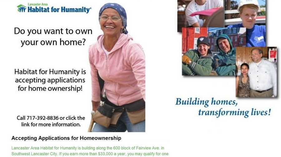 The Lancaster Area Habitat for Humanity brings people together to build homes and communities. Visit www.lancasterhabitat.org to learn more.