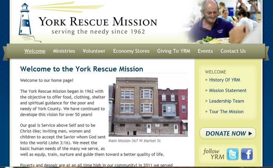 Volunteers are need at the York Rescue Mission to help with various community programs. Visit www.yorkrescuemission.org to learn more.