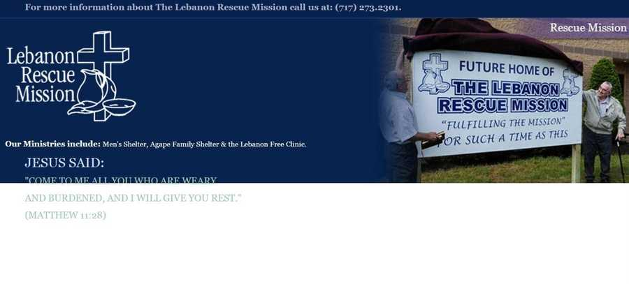 The Lebanon Rescue Mission need volunteers for various functions throughout the year and programs like the Agape Family Shelter and the Lebanon Free Clinic. Go to www.lebanonrescuemission.org.