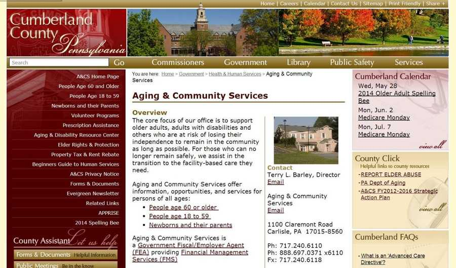 Volunteer services are very important to Cumberland County Aging and Community Services. Visit www.ccpa.net to learn more.