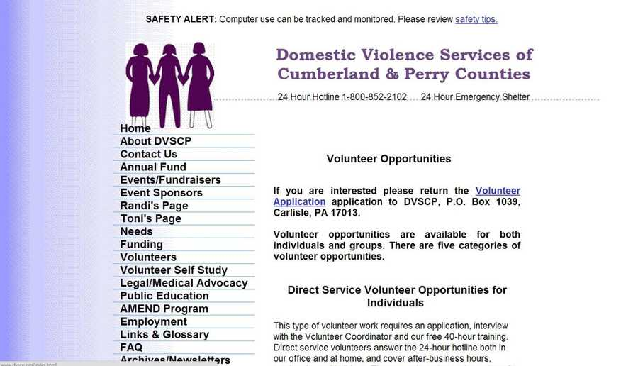 Volunteers are needed at Domestic Violence Services of Cumberland and Perry Counties. Visit www.dvscp.org to learn more.