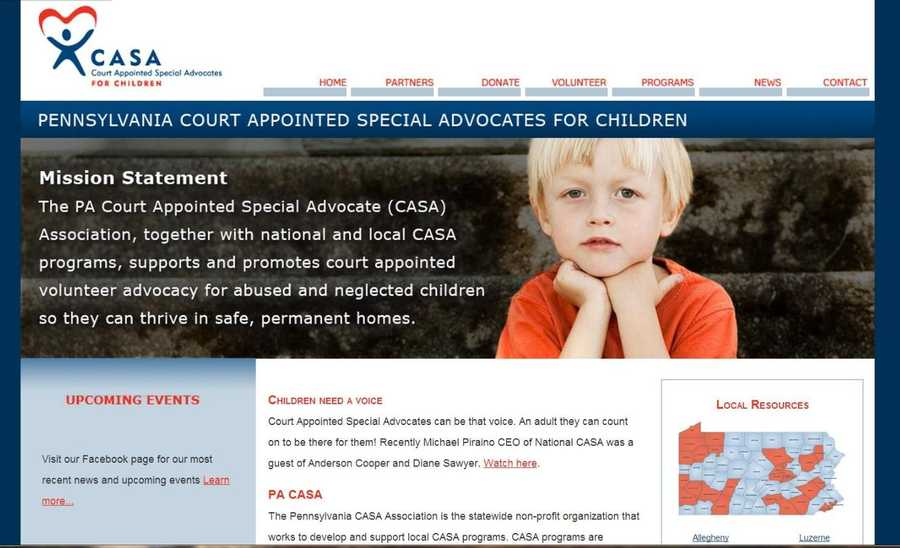 Become a Court Appointed Special Advocate in Pennsylvania and be an adult a foster care child can count on. Visit www.pacasa.org to learn more.