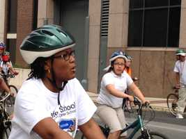 Over 1,000 students kicked-off Bike to Work Week in York on Monday morning. Led by Mayor Kim Bracey, the kidsrode bicycles or walked to City Hall.