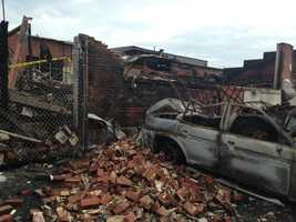 Many vehicles were destroyed in the area of the fire.